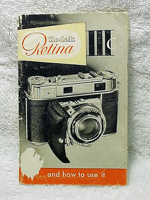 Retina IIIc instructions (original booklet)
