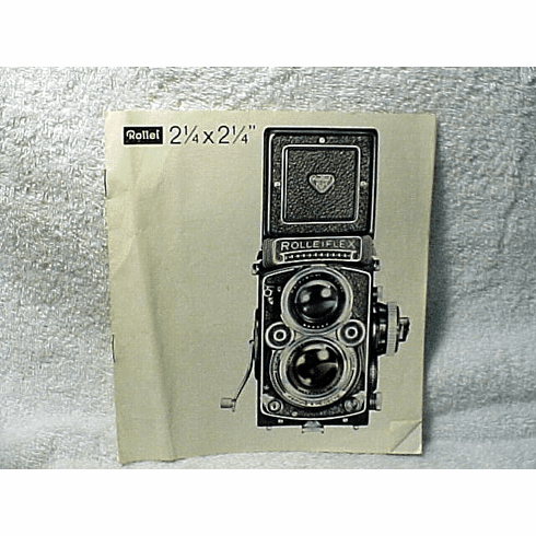 Rollei 2 1/4 Pamphlet 6 pages shows all the cameras (2.8F/3.5F)
