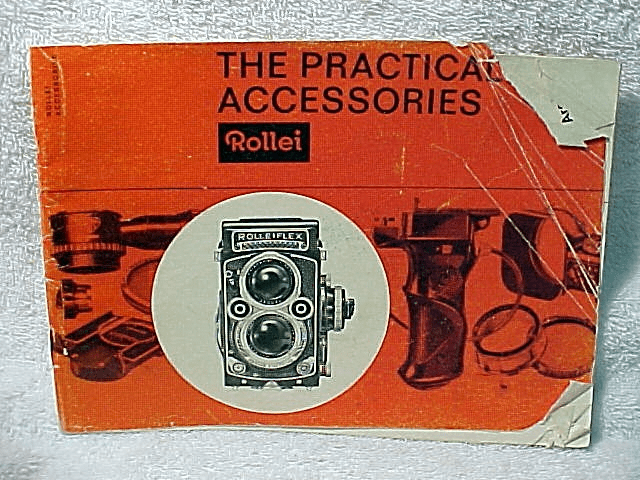 "Rollei Booklet 1963 ""The Practical Accesspries"" 27 pages (xerox)"