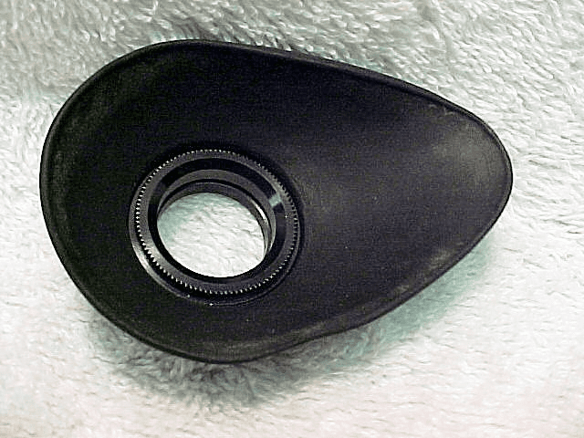 Rubber eyecup with metal Screw in ring for F/F2,  FE2 (No1)