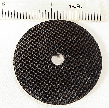 Rubber Tripod Pad with diamond texture top