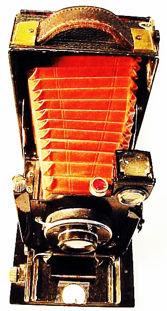 Seneca Uno (?) Plate Camera with red bellows