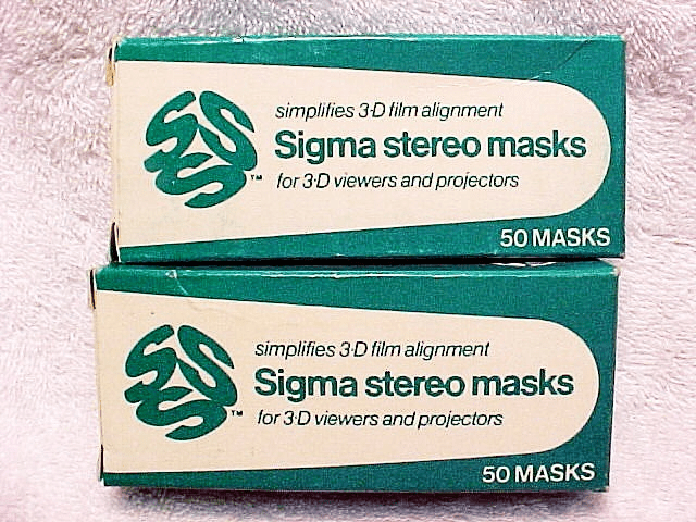 Sigma Stereo Picture Aluminum Masks (50 total)