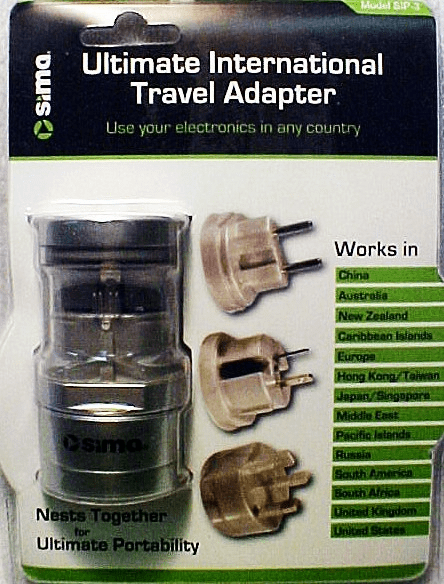 Sima International Travel Adapter (new)