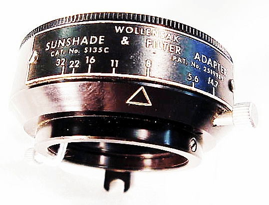 Special f stop viewing hood for 127/135mm Optar View Lenses in Rapax