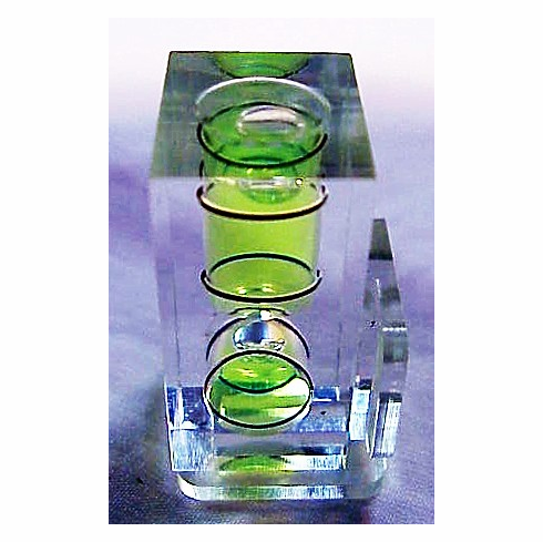Spiratone Bubble Level with two shoes and instructions