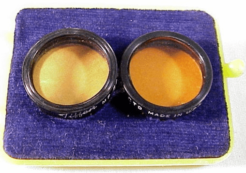 Stereo Realist No 85 (orange) Filters with push on mounts