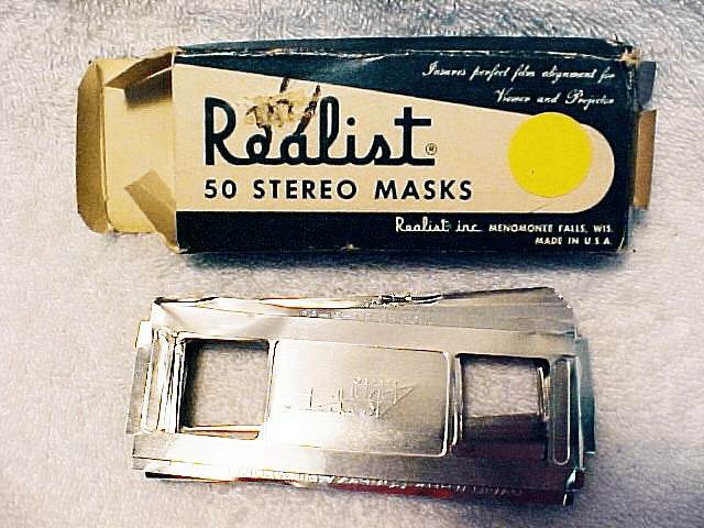 Stereo Realist Stereo Masks (Bent but usable)