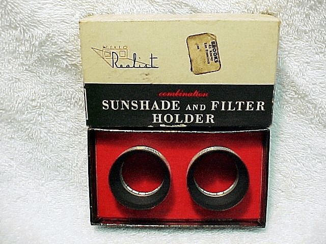 Stereo Realist Sunshades David White for Series V filters
