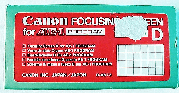 Technical Screen with Grid lines and Micro-prism for Canon AE-1P