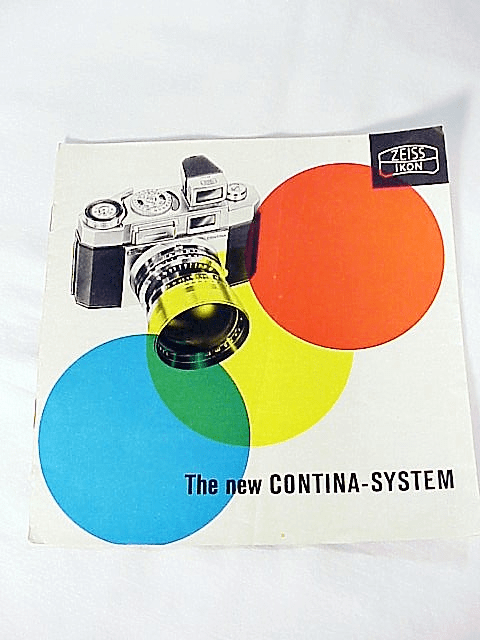 The New Contina-System 6pg 1956 (Original Booklet)