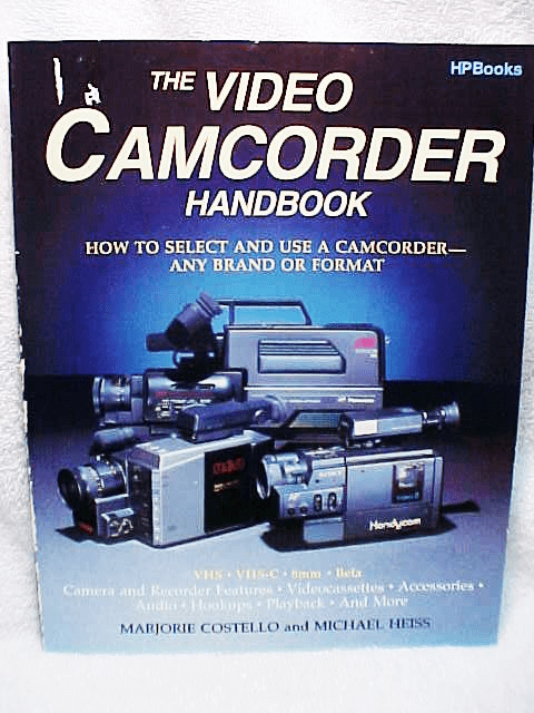 The Video Camcorder Handbook HPBooks 160pg 1987