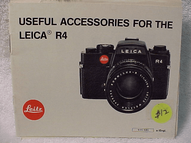 Useful Accessories for the Leica R4