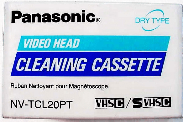 VHS-C Panasonic Head Cleaning Tape (new)