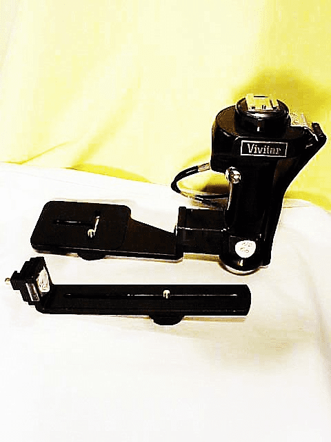 Vivitar Flash Bracket with 2 1/4 plate and 35mm plate with cable (No 60)