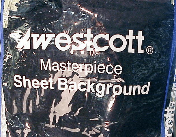 Westcott 10x12 Black Background in carrying case