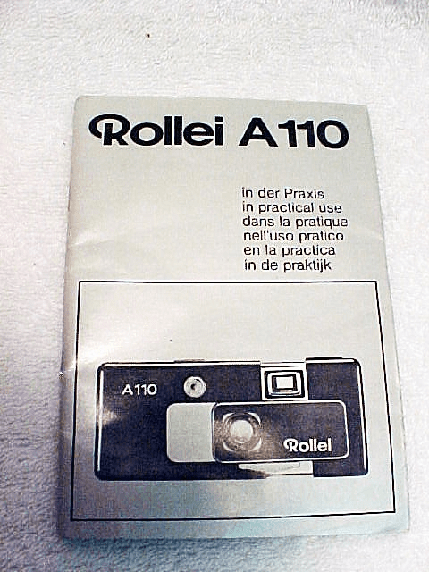 Xerox Copy of Rollei A 110 Instructions