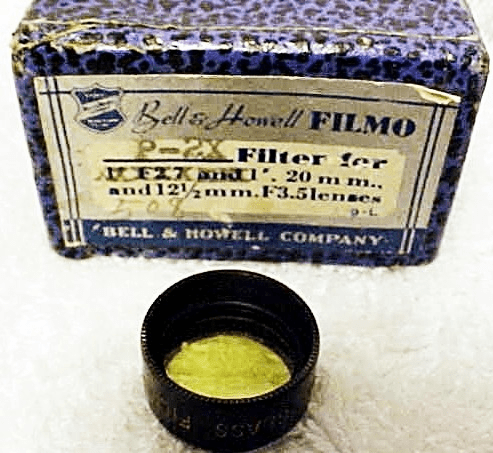 Yel/Green B&H 8mm Filmo Filter for 20mm and 12.5mm f3.5 Lenses (No 91)