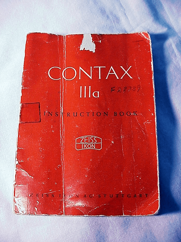 Zeiss Contax IIa Red Dial Instructions (xerox copy)