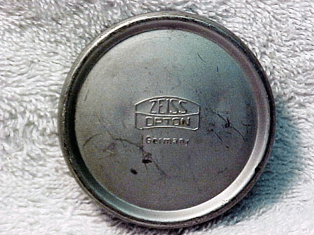 """""""Zeiss Opton Germany"""" Cap for 21mm f4.5 Biogon for Contax IIa/IIIa Cameras"""
