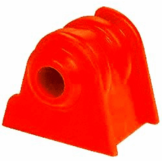 ( 1-502 ) Red Polyurethane 6 Cylinder Engine Mount Set for Jeep 1987-00 Wrangler & XJ Cherokee� by Prothane