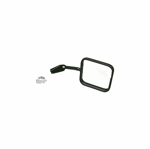 ( 1100104 ) Mirror and Arm, Black, Right Side, 55-86 Jeep CJ Models by Rugged Ridge
