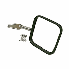 ( 1100510 ) Mirror Head and Arm, Stainless Steel, Right, 55-86 Jeep CJ Models by Rugged Ridge