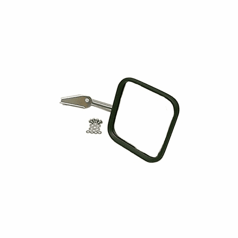 ( 1101002 ) CJ-Style Mirror Head and Arm, Chrome, Right Side, 55-86 Jeep CJ Models by Rugged Ridge