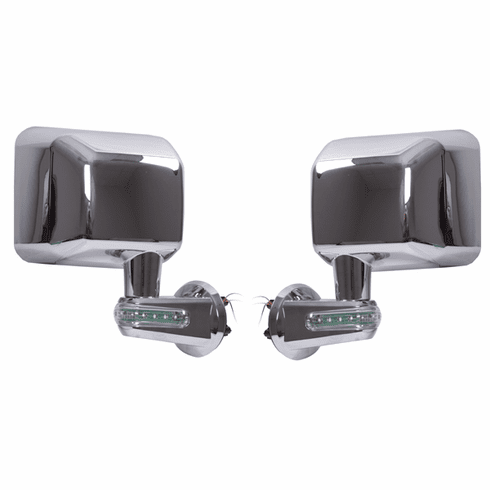 ( 1101016 ) Door Mirrors with LED Turn Signals, Chrome, 07-18 Jeep Wrangler by Rugged Ridge