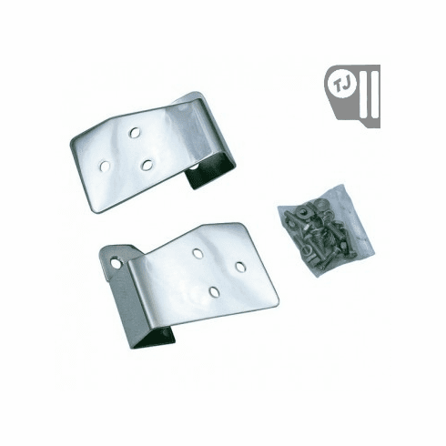 ( 1102603 ) Mirror Relocation Brackets, Stainless Steel, 03-06 Jeep TJ/LJ Wrangler by Rugged Ridge