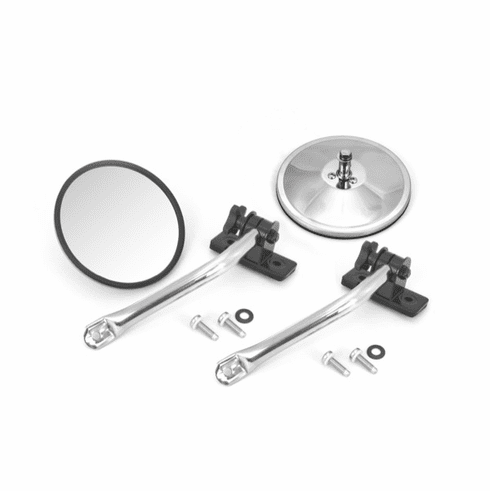 ( 1102610 ) Quick Release Mirror Relocation Pair, Stainless, 97-18 Jeep Wrangler by Rugged Ridge