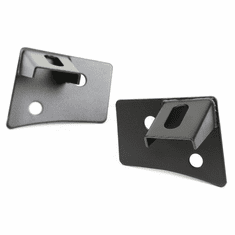 ( 1102704 ) Windshield Auxiliary Light Brackets, Textured Black, 07-18 JK Wrangler by Rugged Ridge