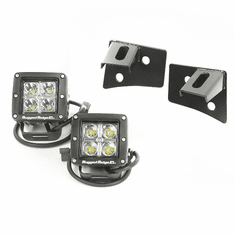 ( 1102710 ) Windshield Bracket LED Light Kit, Square, 07-18 Jeep Wrangler by Rugged Ridge
