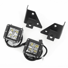 ( 1102712 ) Windshield Bracket LED Kit, Square, 76-95 CJ & Wrangler by Rugged Ridge