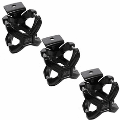 ( 1103003 ) Black X-Clamp, 3 Pieces, 2.25-3 Inches by Rugged Ridge