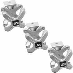 ( 1103012 ) Silver X-Clamp, 3 Pieces, 2.25-3 Inches by Rugged Ridge