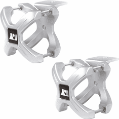 ( 1103111 ) Silver X-Clamp, Pair, 1.25-2.0 Inches by Rugged Ridge
