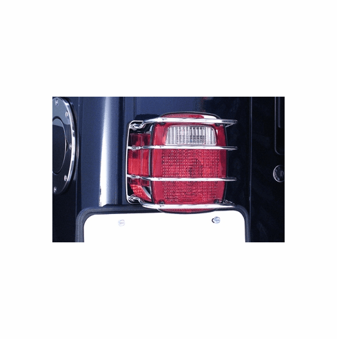 ( 1110301 ) Tail Light Euro Guard, Stainless Steel, 76-06 Jeep CJ and Wrangler by Rugged Ridge