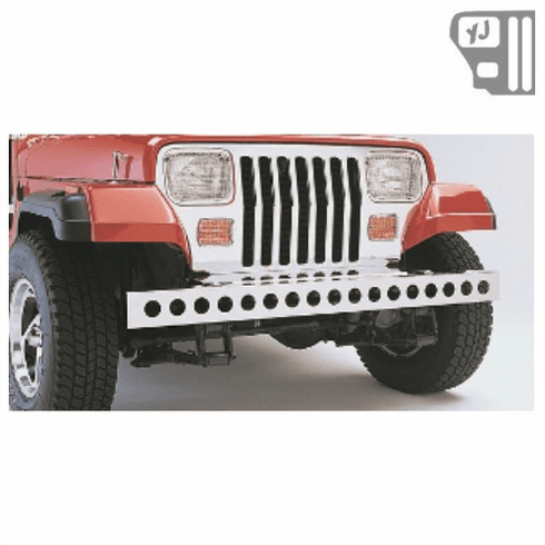 ( 1110702 ) Stainless Steel Front Bumper, 87-95 Jeep Wrangler by Rugged Ridge