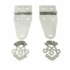 ( 1111101 ) Hood Hinges, Stainless Steel, 76-95 Jeep CJ and Wrangler by Rugged Ridge