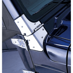 ( 1111202 ) Windshield Hinges, Stainless Steel, 97-06 Jeep Wrangler by Rugged Ridge
