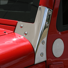 ( 1111203 ) Windshield Hinges, Stainless Steel, 07-18 Jeep Wrangler by Rugged Ridge