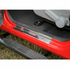 ( 1111904 ) Door Entry Guards, Stainless Steel, 07-18 Jeep Wrangler by Rugged Ridge
