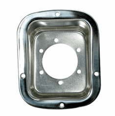 ( 1113501 ) Fuel Filler Bezel, Stainless Steel, 76-95 Jeep CJ and Wrangler by Rugged Ridge
