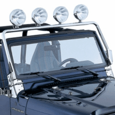 ( 1113801 ) License Plate Bracket, Stainless Steel, 87-95 Jeep Wrangler by Rugged Ridge