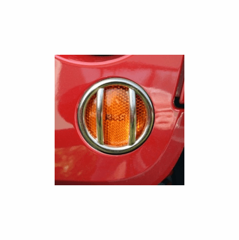 ( 1114211 ) Turn Signal Light Euro Guards, Stainless, 07-18 Jeep Wrangler by Rugged Ridge