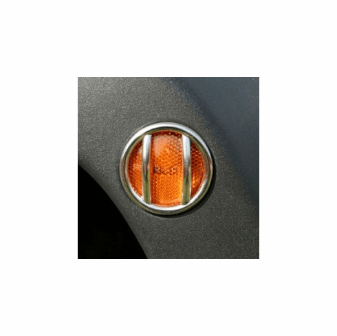 ( 1114212 ) Side Marker Light Euro Guards, Stainless, 07-18 Jeep Wrangler by Rugged Ridge