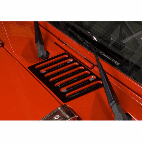 ( 1120605 ) Cowl Vent Cover, Black, 07-18 Jeep Wrangler by Rugged Ridge