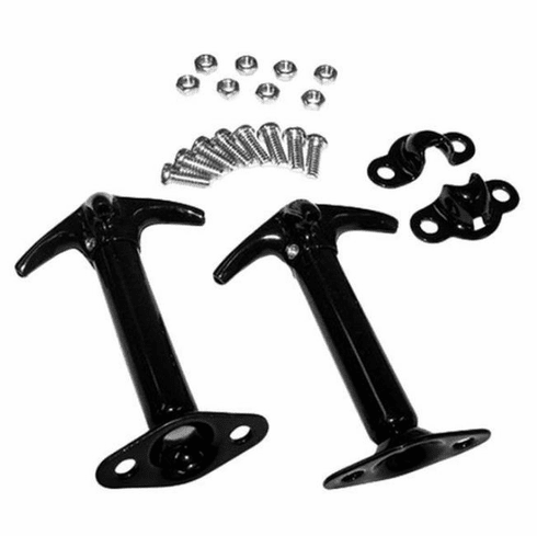 ( 1121001 ) Hood Catch Kit, Black, for 41-95 Jeep CJ and Wrangler by Omix-Ada
