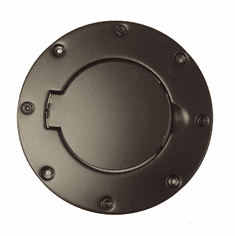( 1122901 ) Non-Locking Gas Cap Door, Black, 97-06 Jeep Wrangler by Rugged Ridge